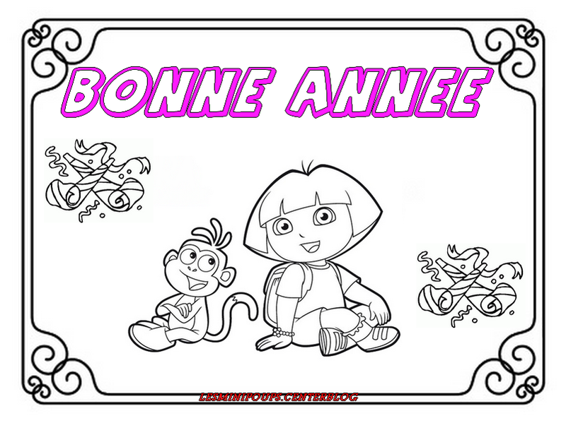 Dora - Bonne annee coloriage ...