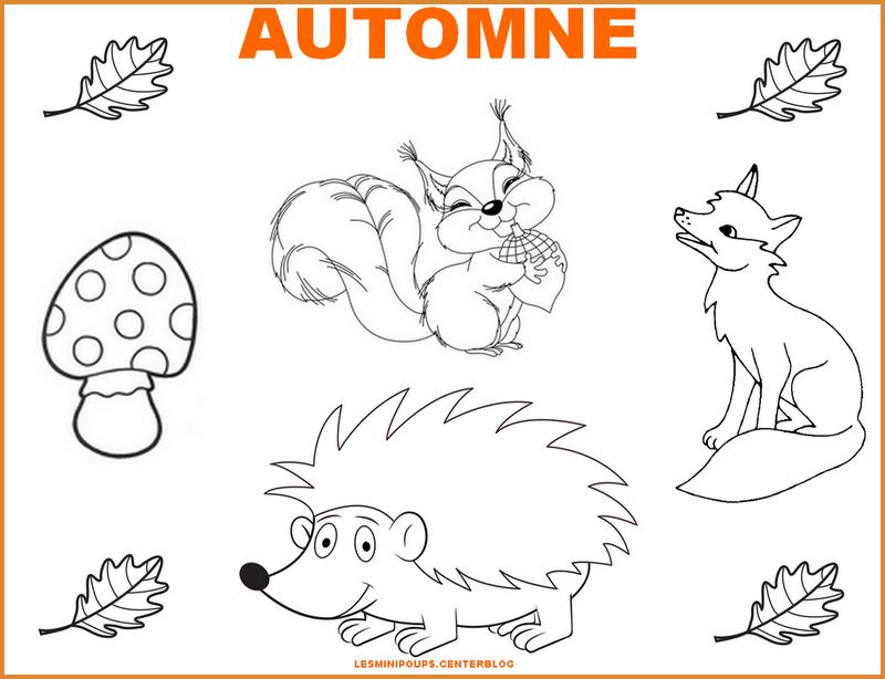 Image automne dessin maison design - Coloriage feuilles d automne ...