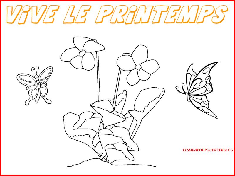 Coloriage Printemps Coccinelle.Coloriage Du Printemps