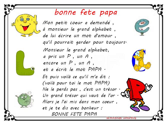 Comptine Lalphabet Bonne Fête Papa