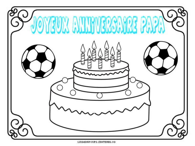 Football - Dessin d anniversaire pour papa ...