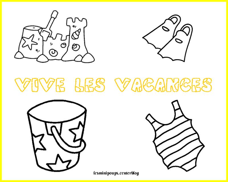 Vacance - Coloriage vive les vacances ...