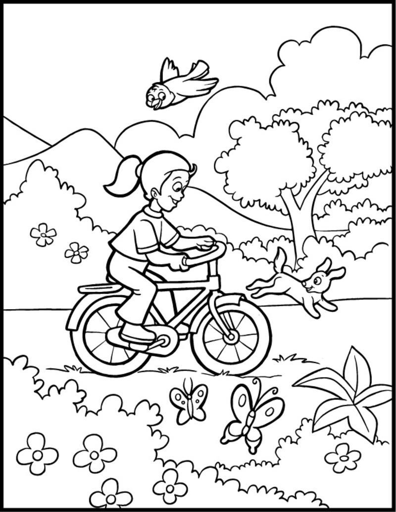 Coloriage De Printemps.Coloriage Printemps
