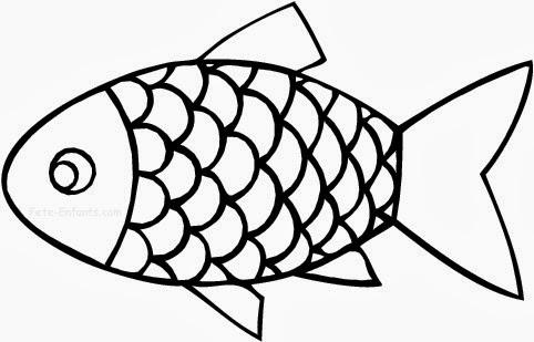 Les poissons en playmais centerblog - Coloriage poisson avril ...