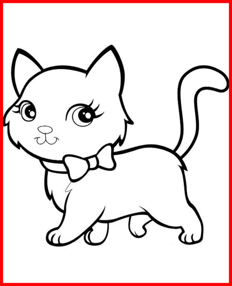 Coloriage Chat Noeud.Coloriage Animaux