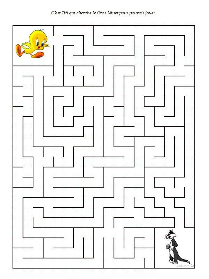 Labyrinthe - Jeu labyrinthe a imprimer ...