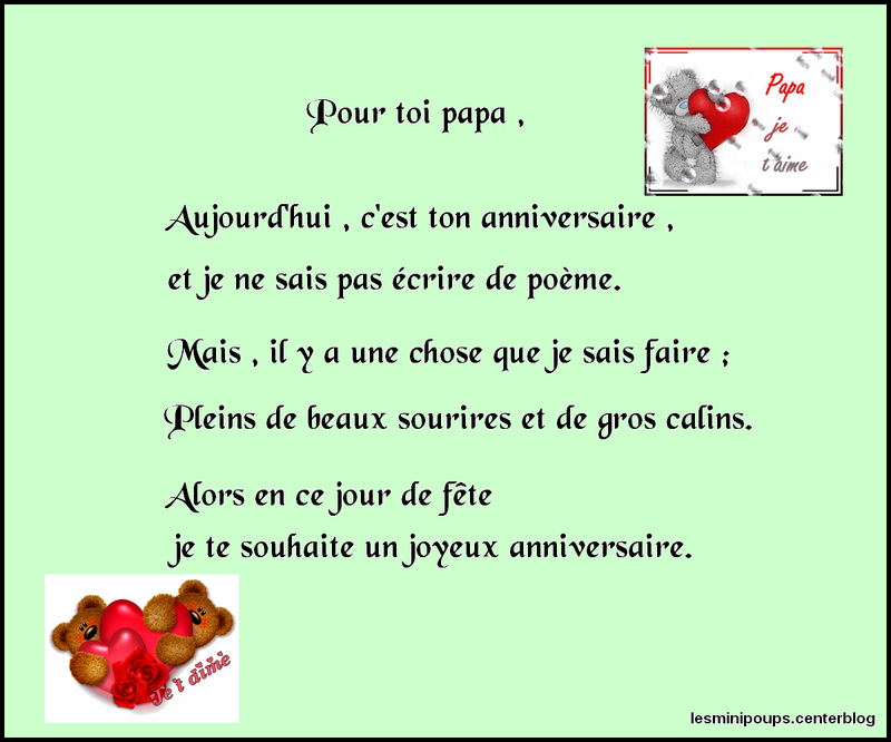 Texte joyeux anniversaire papa spaxdesign - Poeme anniversaire papa ...