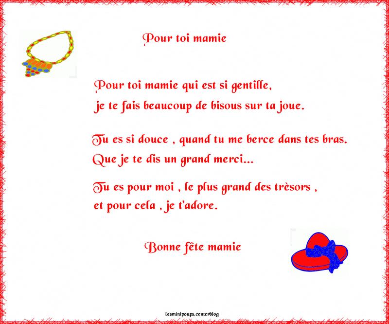 Poeme Fete Des Mamies