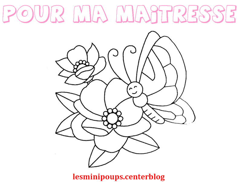 Coloriage pour maitresse - Coloriage de maitresse ...